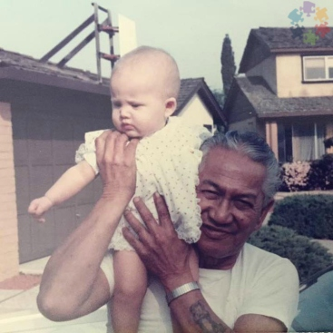 Jessica Gioiosa and Grandfather 1986